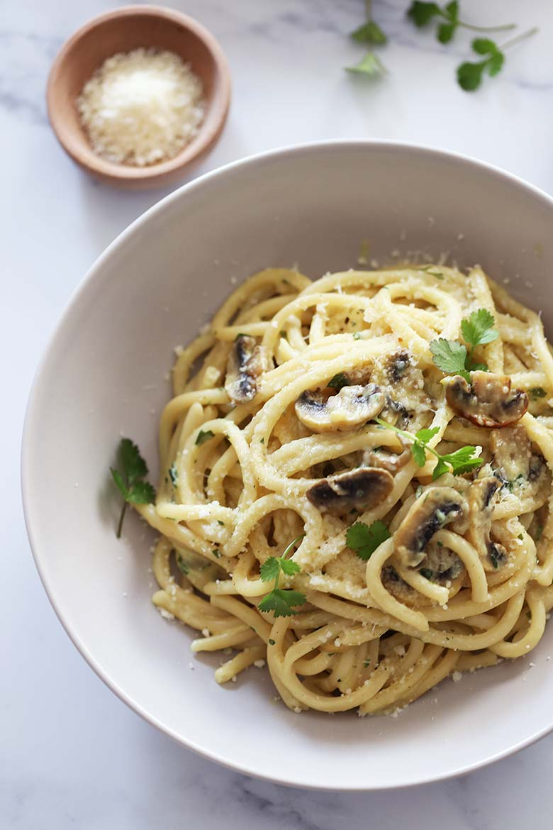 The Best Creamy Mushroom Pasta Recipe With White Sauce
